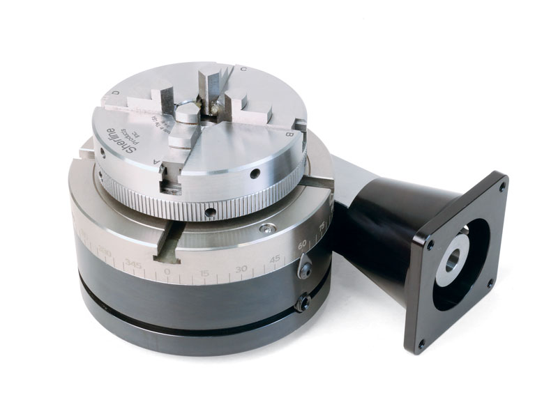 8711 nickel teflon coated cnc rotary table with indexer for Cnc rotary table with stepper motor